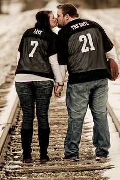 Cheesy But CUTE!!!!!!!! Brandy and Joe save the date- West Photography