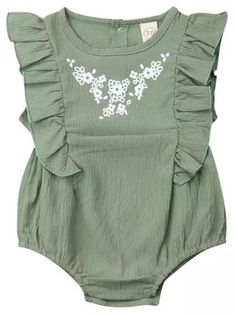 Shop the best rompers to make your baby girl look amazing and pretty. High-quality toddler, infant & newborn baby girl rompers for all seasons at The Trendy Toddlers. Baby Outfits, Kids Outfits, Baby Ruffle Romper, Baby Girl Romper, Romper Dress, Lace Dress, Girls Rompers, Baby Girls Clothes, Baby Rompers