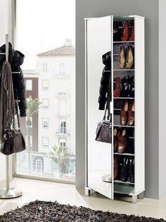 espejo zapatero Shoe Storage Unit, Shoe Storage Cabinet, Bedroom Bed Design, Bedroom Decor, Home Decor Furniture, Furniture Design, Shoe Cupboard, Dressing Table Design, Bunk Bed Designs