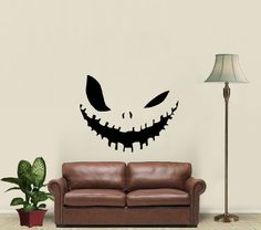 Evil Smile Halloween Vinyl Decals Wall Art Sticker Home Modern Stylish Interior Decor for Any Room Smooth and Flat Surfaces Housewares Murals Design Graphic Bedroom Living Room (4203) stickergraphics http://www.amazon.com/dp/B00IOMGGM2/ref=cm_sw_r_pi_dp_pRWUtb0SV4SSN7QC