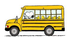 Snoopy is an Experienced School Bus Driver