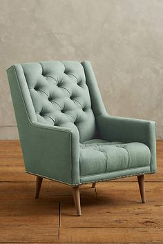 Linen Booker Armchair - anthropologie.com