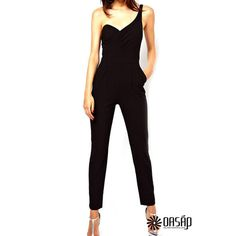 "M:  Bust:34.25"",Waists:27.17"",Hip:37.01"" L:   Bust:36.22"",Waists:29.13"",Hip:38.98""  The jumpsuits Made from a breathable woven fabric, featuring V-neckline. Ruffle trim. Self-tie high waist. Side pockets. Elasticated cuffs. Regular fit.  OP40591"