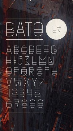 Type Design  An experimental and futuristic typeface designed by Atelier Olschinsky from Vienna, Austria.  via: WE AND THE COLORFacebook//Twitter//Google+//Pinterest