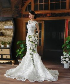 Barbie,Tonner,Revlon Fashion Royalty wedding White long Bouquet, Flowers, NEW!! #FashionRoyaltyWeddingBouquet