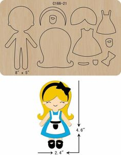 New Princess Wooden Die Cutting Dies Scrapbooking felt - Her Crochet Felt Doll Patterns, Paper Piecing Patterns, Fabric Dolls, Paper Dolls, Felt Templates, Felt Quiet Books, Felt Decorations, Marianne Design, Foam Crafts