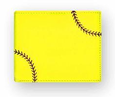 Zumer Sport Softball Men's Wallet Made From Real Softball Material #zumersport #softballwallet #softball #wallet #menswallet