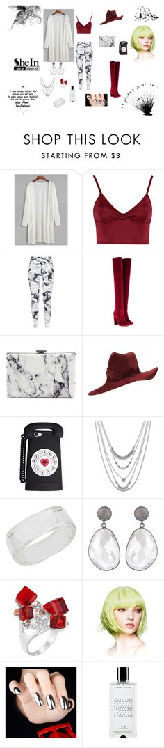 """""""Confidence"""" by browncoat4ever ❤ liked on Polyvore featuring Lipsy, Varley, Aquazzura, Balenciaga, Philip Treacy, Lucky Brand, INC International Concepts, Agonist and WALL"""