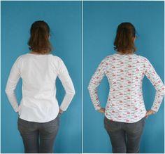 Hohlkreuz-Anpassung für Schnittmuster ohne Taillen- oder Rückennaht - The Flying Needle