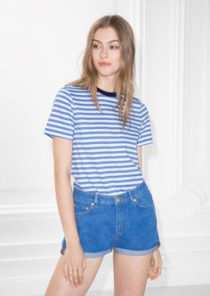 & Other Stories image 2 of Striped Top in Blue