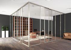 Sistema in alluminio per pareti vetrate  Sliding aluminum system for glazed walls di #MRartdesign