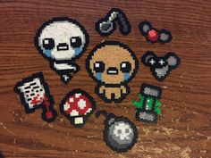 I made a few Isaac sprites from mini perler beads! - Album on Imgur