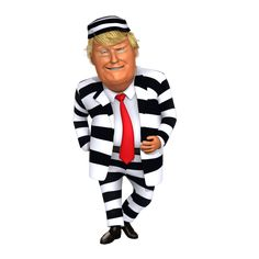 No body wear better stripes than me, I'm a winner everywhere I go, even on prison. Other inmates love me, many good people here, both sides of the fenc… Funny Animal Images, Funny Pictures, Animals Images, Caricatures, Donald Trump Caricature, Inmate Love, Trump Cartoons, Court Jester, Political Satire