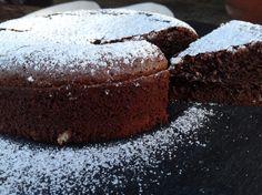 Schokoladenkuchen als Dessert