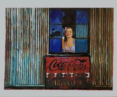 Cheers (Broken Windows series) 2014 cm 25×35 #inkonpaper #acryliconpaper #pencilonpaper #paperpaint #workonpaper #illustration #figurativeart #beer #coke #cocacola #monacoart #brokenwindows