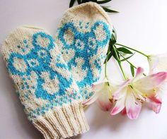 Stricken namihiiri's mittens pattern by Milla H, Fingerless Mittens, Knit Mittens, Knitted Gloves, Knitting Socks, Knitting For Kids, Baby Knitting Patterns, Knitting Projects, Knitted Animals, Mittens Pattern