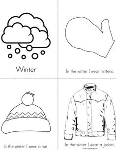 Winter Clothes Mini Book from TwistyNoodle.com