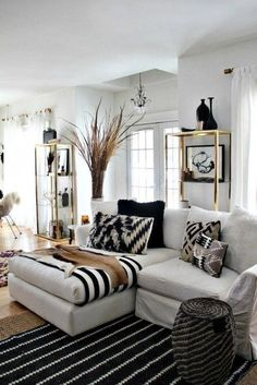 Brilliant Ideas & Solutions for Your Small Living Room   If you've ever struggled with how to arrange your furniture, how to fit in more seating, how to get in more light and beyond, here are 30 rooms—from genius teeny spaces full of inspiration to larger living rooms with plenty of ideas to borrow—showcasing the best ways to expand your square footage without any demolition. #smallroomdesignideas
