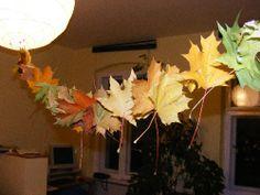 Buntes Herbstlaub  auffädeln - ein Spaß für Kinder   http://www.lebensfreude-wiederfinden24.de