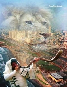 """""""When the trumpet of The Lord shall sound; and time shall be no more!"""" The Lion of Judah, now is the time to kneel together in prayer, to get ready for Jesus to return and rapture His church, take us home with Him. Braut Christi, Psalm 122, Tribe Of Judah, Jesus Christus, Jesus Is Coming, Prophetic Art, Lion Of Judah, Jesus Is Lord, King Of Kings"""