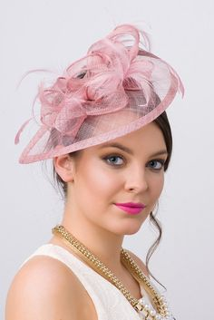 e43f23b0e18 Blush Fascinator Penny Mesh Hat Fascinator with by PippaAndPearl Kentucky Derby  Fashion