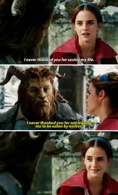 Emma Watson as Belle and Dan Stevens as Beast - Beauty and the Beast (2017)