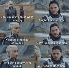 GoT May Be Gone But These 40 Incorrect Quotes Help Ease The Void It Left - We share because we care. A resource for sharing the latest memes, jokes and real stuff about parenting, relationships, food, and recipes Jon E Daenerys, Daenerys Targaryen, Game Of Thrones Instagram, Game Of Thrones Meme, Game Of Thones, Got Memes, Got Quotes, Mother Of Dragons, Fandoms