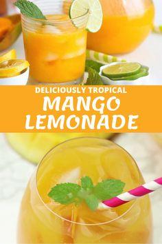 Mango Drinks, Fruit Drinks, Yummy Drinks, Mango Cocktail, Beverages, Refreshing Summer Drinks, Summertime Drinks, Refreshing Alcoholic Drinks, Summer Drink Recipes