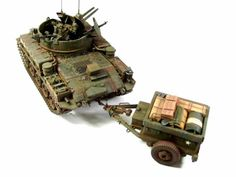 M42 Duster & M332 Ammo Trailer 1/35 Scale Model