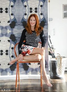 Ink blot design wallpaper! Style Stalking: Taylor Tomasi-Hill at Home