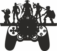 The vector file Laser Cut Kid Room Wall Clock Gamepad CDR File is a Coreldraw cdr ( .cdr ) file type, size is KB, under clock vectors. Clock Art, Diy Clock, Wall Clocks, Vector File, Vector Art, Wall Clock Vector, Free Vectors, Vector Free Download, Record Crafts