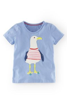 "Free shipping and returns on Mini Boden Appliqué Tee (Toddler Girls, Little Girls & Big Girls) at Nordstrom.com. <p><B STYLE=""COLOR:#990000"">Pre-order this style today! Add to Shopping Bag to view approximate ship date. You'll be charged only when your item ships.</b></p><br>Quirky anthropomorphic appliqués bring unmistakable signature playfulness to a favorite scoop-neck tee cast in lightweight cotton. $30"