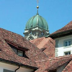 Einsiedeln - Benedictine monastery - one of most important places of pilgrimage in Swit...shrine of Virgin Mary and statue of the Black Madonna