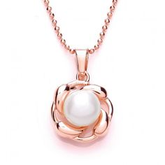 Silver Rose Gold Plated Pendant – Louie's Gift Shop