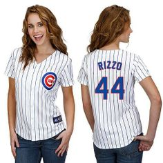 031f659ff Shop For White Customized Authentic Jersey - Women s Majestic MLB Chicago  Cubs Cool Base Home.