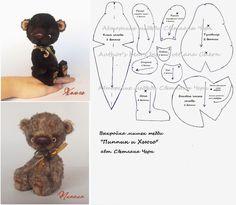 выкройка мишек тедди Пиппин и Хьюго / Pattern Teddy bears Pippin and Hugo