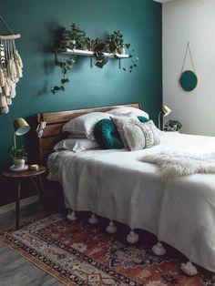 Modern Bedroom Decor, Room Ideas Bedroom, Bedroom Vintage, Home Bedroom, Modern Decor, Bed Room, Contemporary Bedroom, Bedroom Furniture, Eclectic Modern