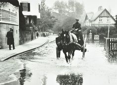 Flooding at Twickenham, 1924