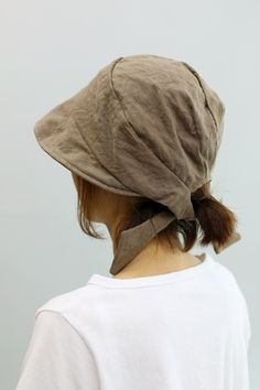 마리안느 모자두건 - 레아린넨 Cafe Uniform, Short Pixie, Bandeau, Diy Clothing, Beret, Sun Hats, Head Wraps, Caps Hats, Knitting Patterns