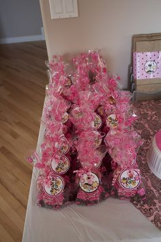 Girl Baby Shower favors - Pink and Brown