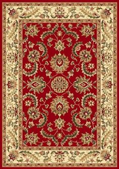 traditional area rug royal treasure red