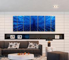 Blue Abstract #Wall_Art