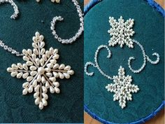 hand embroidery with pearl and beads Pearl Embroidery, Hand Embroidery Videos, Bead Embroidery Patterns, Hand Work Embroidery, Couture Embroidery, Bead Embroidery Jewelry, Beaded Jewelry Patterns, Hand Embroidery Designs, Couture Beading