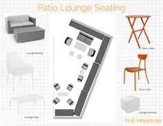 Outdoor Stage, Bistro Chairs, Lounge Seating, Ottoman, Patio, Bathroom, Table, Washroom, Couches