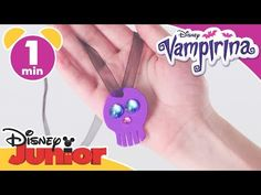 Vampirina   Halloween Tutorial: Vampirina's Necklace   Disney Junior UK - YouTube