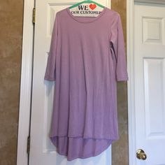 Tobi tee shirt dress  Lavender color hi-lo hem Tobi tee shirt dress with 3/4 sleeves 95% modal 5% spandex so soft! Perfect for the beach or a summer night out Tobi Dresses High Low