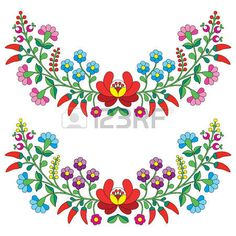 Folk patr�n floral h�ngaro - bordado Kalocsai con flores y piment�n photo