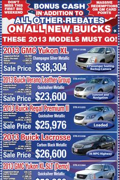 Big President's Day sale starting this weekend!  New Buick & GMC