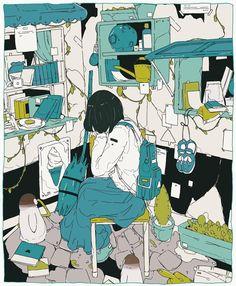 The Art Of Animation, daisukerichard -. Art And Illustration, Illustrations And Posters, Kunst Inspo, Art Inspo, Psychedelic Art, Pretty Art, Cute Art, Anime Kunst, Anime Art
