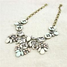 Women-Lady-Bib-Statement-Necklace-Bohemian-Chunky-Jewelry-Retro-Pendant-Chain